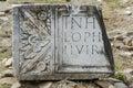Ancient latin script Royalty Free Stock Photo