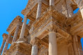 Ancient library in ephesus izmir turkey Royalty Free Stock Photography