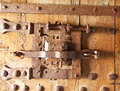 Ancient lock in the medieval castle aigle switzerland Royalty Free Stock Photo