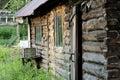 Ancient log hut Royalty Free Stock Photo