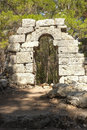 Ancient Lycian Ruins Arch, Phaselis, Turkey Stock Photos