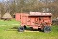 Old threshing machine Royalty Free Stock Photo