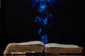 The ancient magic book Royalty Free Stock Photo