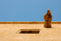 Ancient man shape on historic building in valencia spain Royalty Free Stock Photography