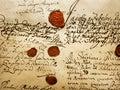 Ancient Manuscript Royalty Free Stock Photo