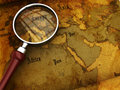 Ancient map closeup Royalty Free Stock Photos