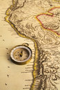 Ancient Map and Compass Stock Images