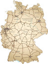 Ancient map of germany Royalty Free Stock Photography