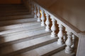 Ancient marmoreal stairs with balusters Royalty Free Stock Photos