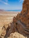 Ancient Masada fortress, Israel Royalty Free Stock Photo