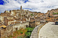Ancient matera travel in italy series basilicata Stock Photography