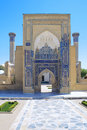 Ancient Mausoleum of Tamerlane in Samarkand Stock Photo