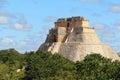 Mayan pyramids in Uxmal near merida yucatan mexico III Royalty Free Stock Photo