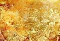 Ancient Mayan Calendar, abstract color Background. Royalty Free Stock Photo