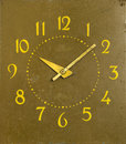 Ancient mechanical clock arrows number of hours Stock Photography