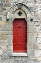 Ancient medieval French castle door Royalty Free Stock Photo