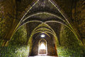 Ancient medieval room with arches Royalty Free Stock Photo