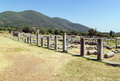 Ancient messene greece agora ruins in in Stock Photography