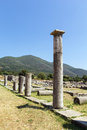 Ancient messene greece agora ruins in in Royalty Free Stock Image