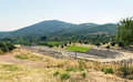Ancient messene greece stadium in in peloponnese Royalty Free Stock Photos