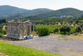 Ancient messene greece temple in in peloponnese Royalty Free Stock Photo