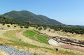 Ancient messene greece theatre in in Stock Photos