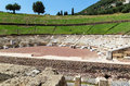Ancient messene greece theatre in in Stock Photography