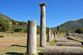 Ancient messini old ruins messenia peloponnese greece Stock Photo