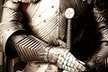 Ancient metal armor iron detail Royalty Free Stock Photography