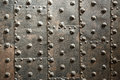 Ancient metal door as background Royalty Free Stock Photo