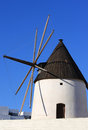 Ancient mill near Las Negras in Andalusia, Spain Royalty Free Stock Image