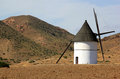 Ancient mill in Pozo de los Frailes, Andalusia Royalty Free Stock Images