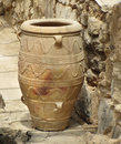 Ancient Minoan amphora vase Royalty Free Stock Photo