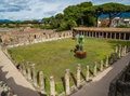 Ancient and modern in Pompeii Royalty Free Stock Photo