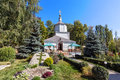 Ancient monastery church of the assumption lipetsk russia holy dormition diocesan Royalty Free Stock Photo