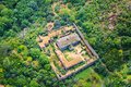 Ancient monastery view from altitude Stock Photo