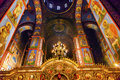 Ancient mosaics basilica saint michael monastery cathedral kiev ukraine golden sreen icons dome s is a functioning Stock Photos