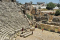 Ancient Myra greek theatre at Turkey Demre Royalty Free Stock Photo
