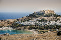 Ancient mythological greek city of Lindos in Rhodes island