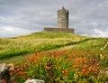 Ancient old irish castle in doolin, ireland Stock Photos