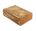 Ancient old lacerated book on a white background isolated Royalty Free Stock Photo