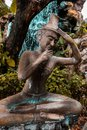 Ancient Old Man`s Statue in Thailand