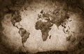 Ancient, old world map. Pencil sketch, vintage background Royalty Free Stock Photo