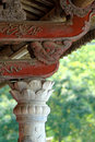 Ancient oriental woodwork construction emperor s palace of hue vietnam march Stock Image