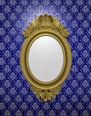 Ancient oval mirror Royalty Free Stock Photo