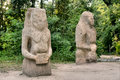 Ancient pagan idols shot in askania nova kherson region ukraine Royalty Free Stock Photography