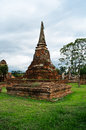 Ancient pagoda of Ayuthaya Royalty Free Stock Photo