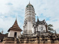 Ancient pagoda at ayutthaya thailand the temple wat putthaisawa Royalty Free Stock Photography