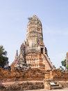 Ancient pagoda chaiwattanaram temple in ayutthaya thailand Stock Photos