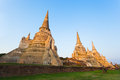The ancient pagoda group over 500 years Royalty Free Stock Photo